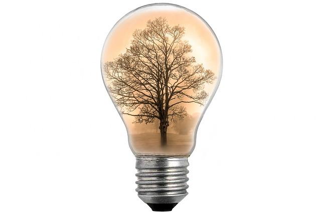 strom v žárovce