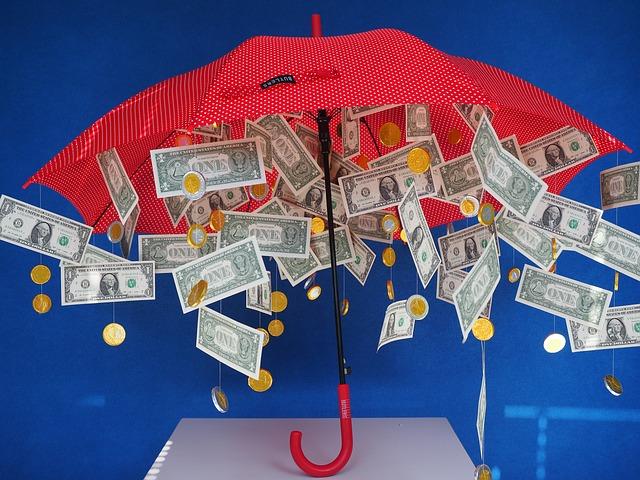 déšť peněz
